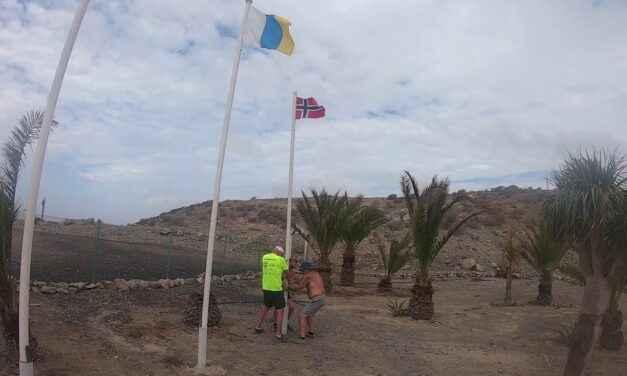 Video: Nye flagg vaier på Norskeplassen